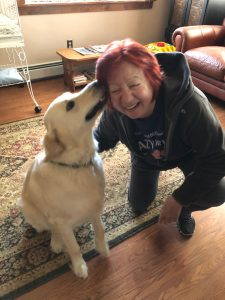 Linda with Zeke 3-27-19